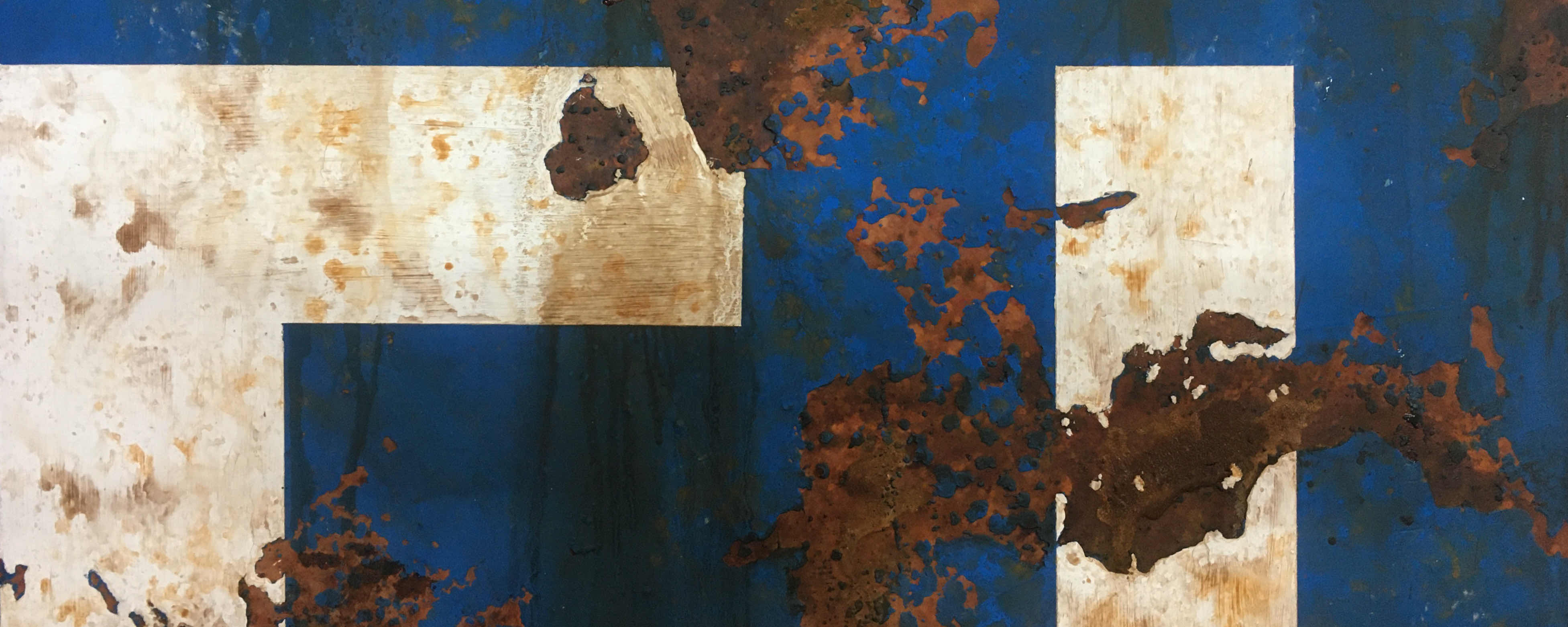 Rusty metal paint finishes